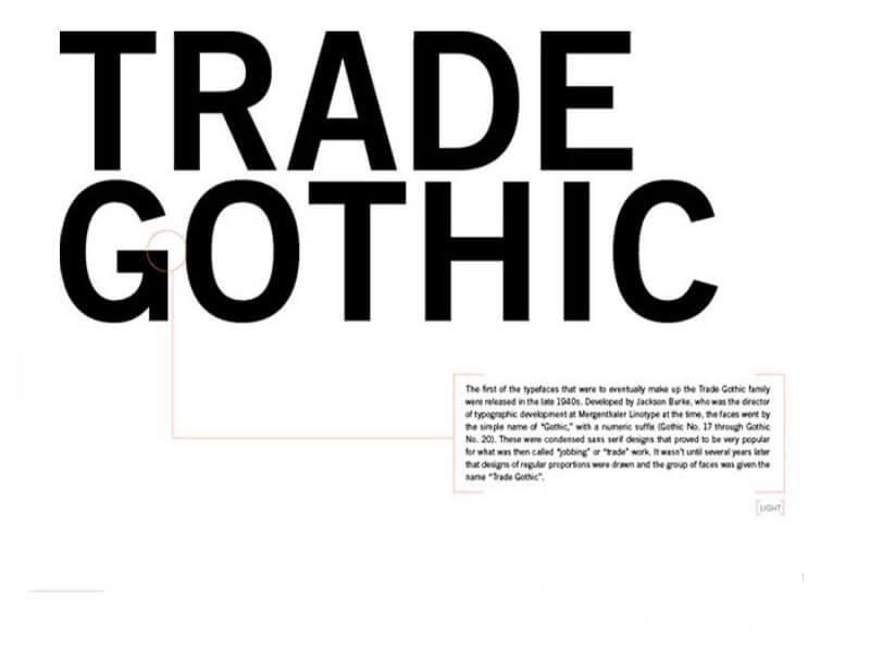 Trade Gothic шрифт скачать бесплатно