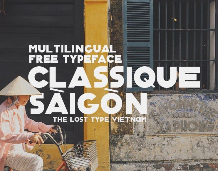 Classique Saigon шрифт скачать бесплатно