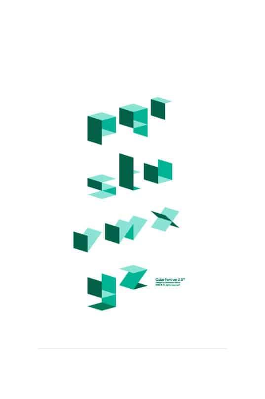 Cube  (vector) шрифт скачать бесплатно