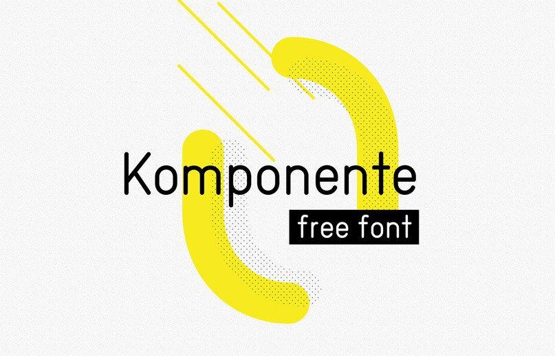 Komponente шрифт скачать бесплатно