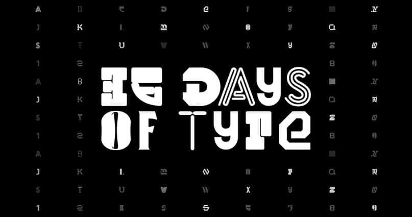 36 Days of Type шрифт скачать бесплатно