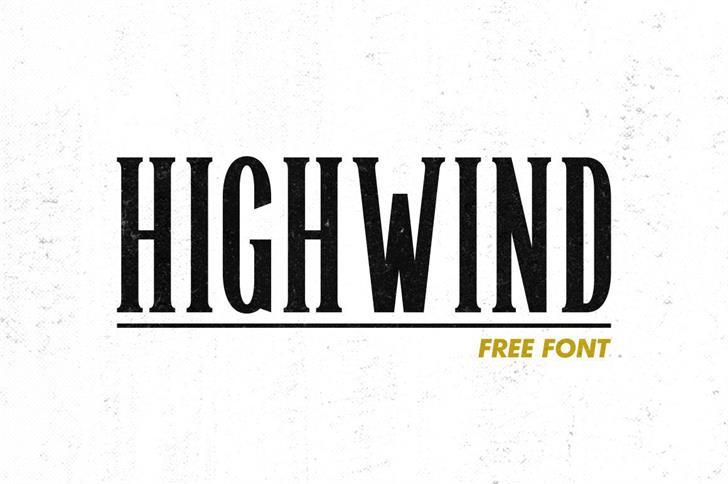 Highwind шрифт скачать бесплатно