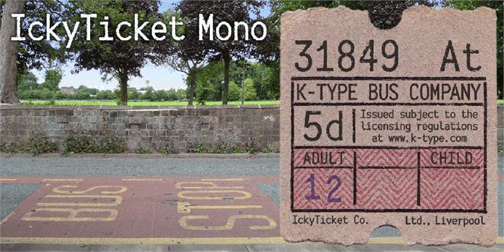 IckyTicket Mono шрифт скачать бесплатно
