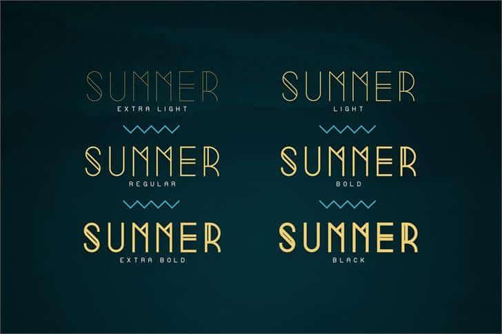 Summer Light шрифт скачать бесплатно