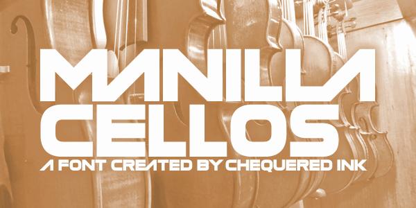 Manilla Cellos шрифт скачать бесплатно