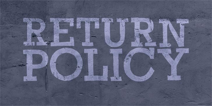 Return Policy шрифт скачать бесплатно