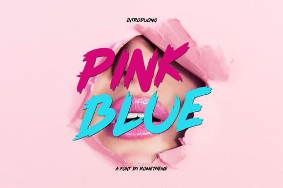 Pink blue шрифт скачать бесплатно