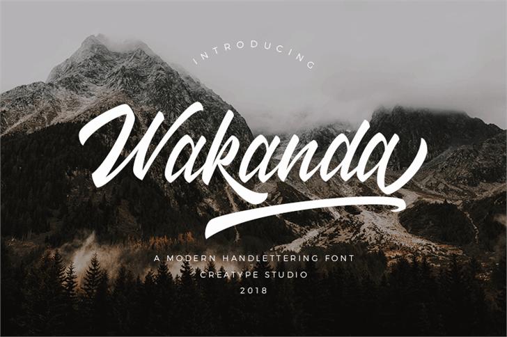 Wakanda шрифт скачать бесплатно
