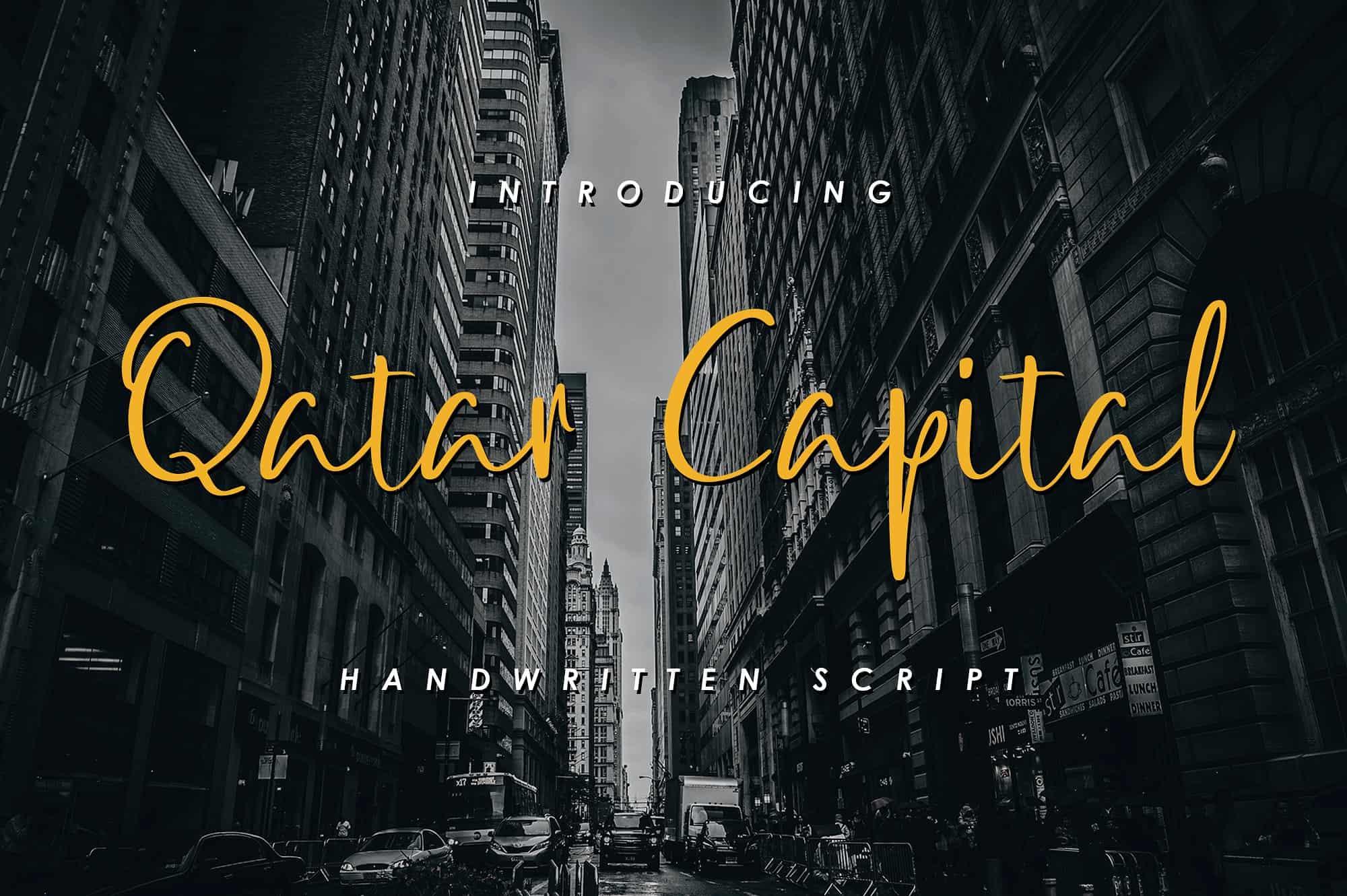 Qatar Capital шрифт скачать бесплатно