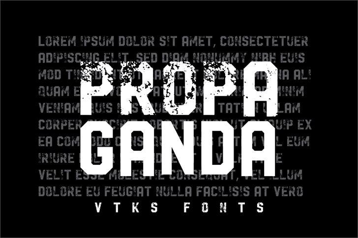 Vtks Propaganda шрифт скачать бесплатно