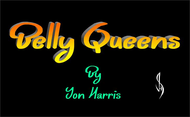 Belly Queens шрифт скачать бесплатно