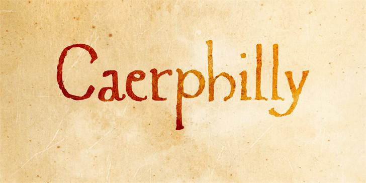 Caerphilly шрифт скачать бесплатно
