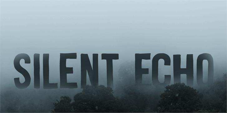 Silent Echo шрифт скачать бесплатно