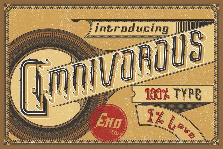 Omnivorous Regular 02 шрифт скачать бесплатно