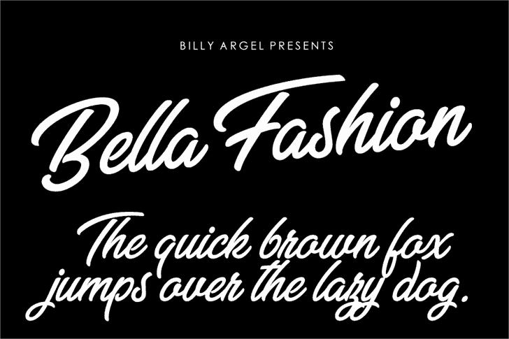 Bella Fashion шрифт скачать бесплатно