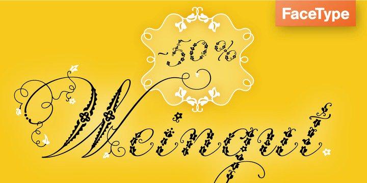 Weingut шрифт скачать бесплатно