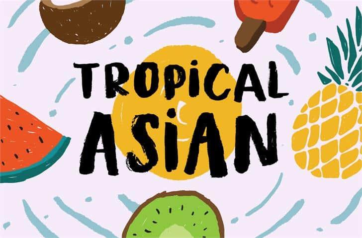Tropical Asian шрифт скачать бесплатно