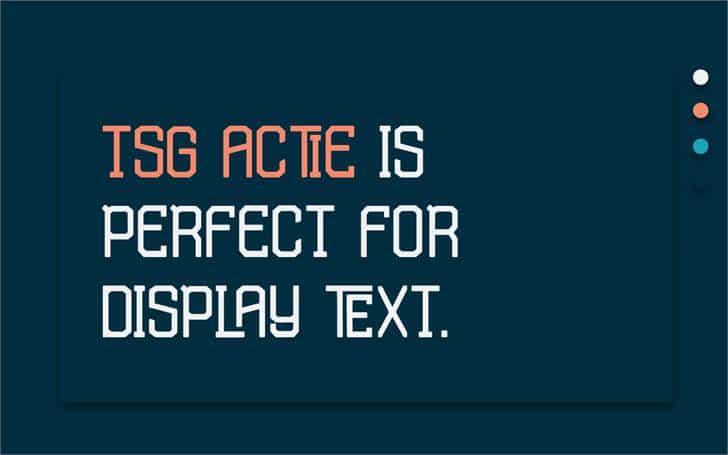 TSG Actie шрифт скачать бесплатно