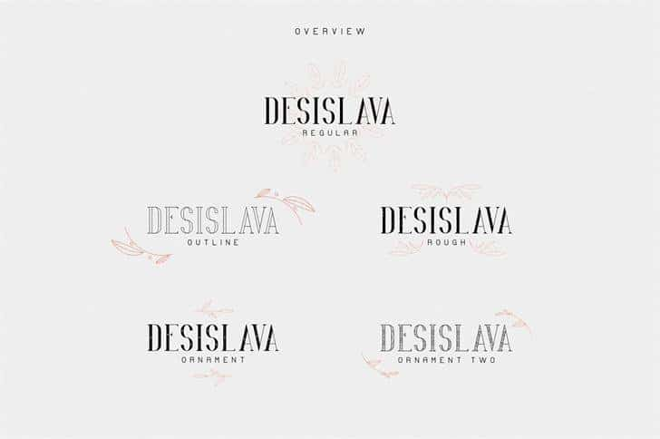 Desislava Ornament шрифт скачать бесплатно