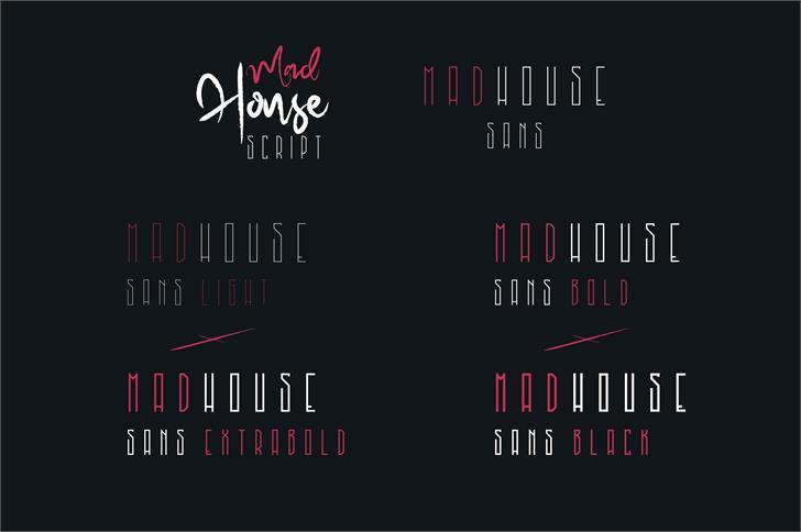 MadHouse Sanslight шрифт скачать бесплатно