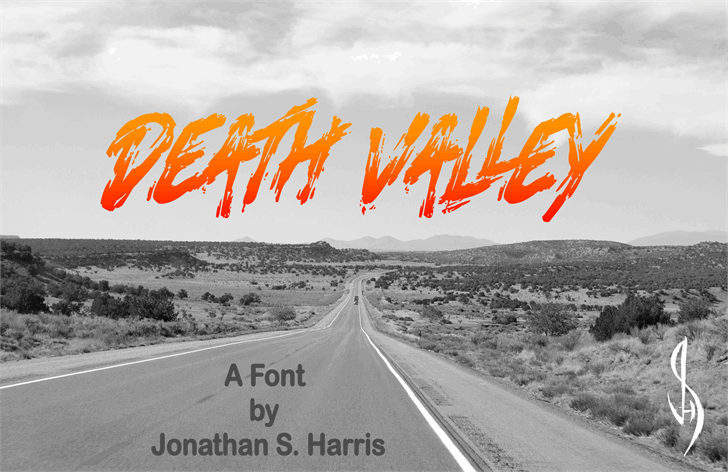 Death Valley шрифт скачать бесплатно