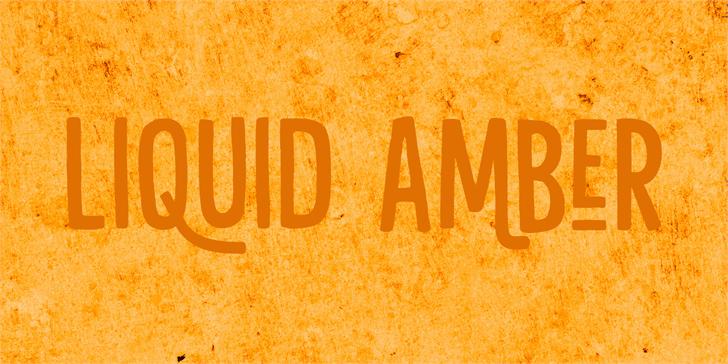 Liquid Amber шрифт скачать бесплатно