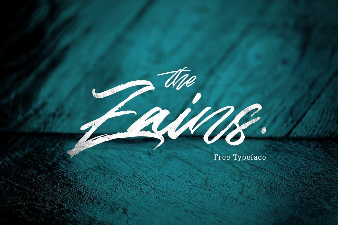 The Zains шрифт скачать бесплатно