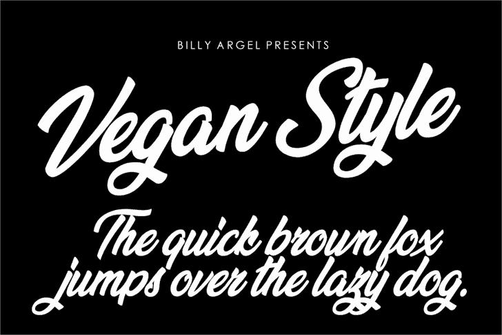 Vegan Style шрифт скачать бесплатно