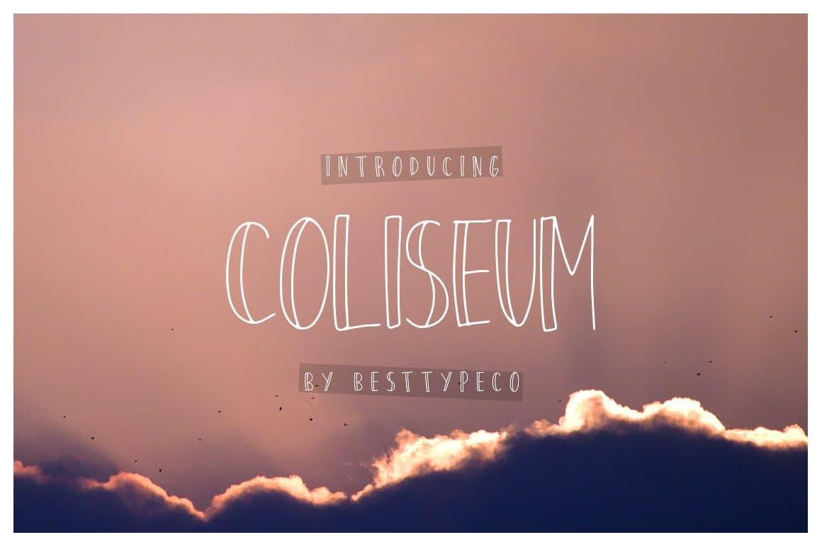 Coliseum шрифт скачать бесплатно
