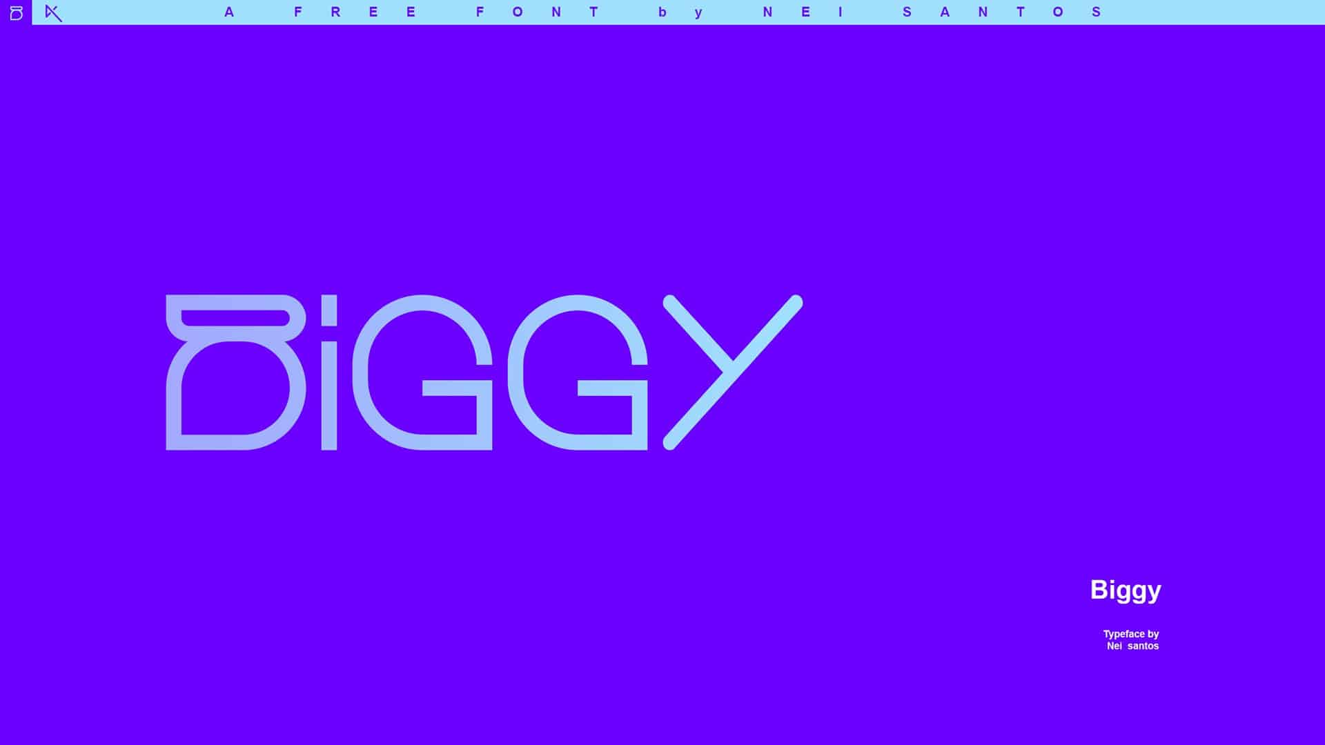 Biggy шрифт скачать бесплатно