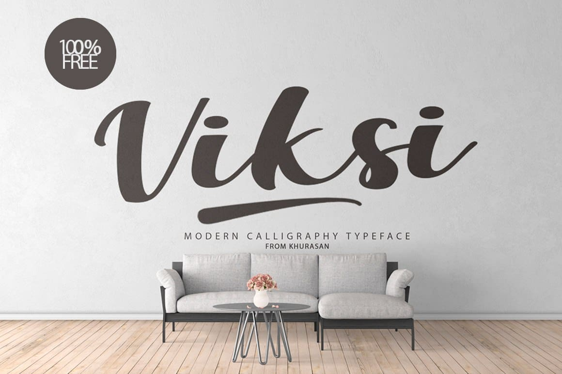 Viksi Script шрифт скачать бесплатно