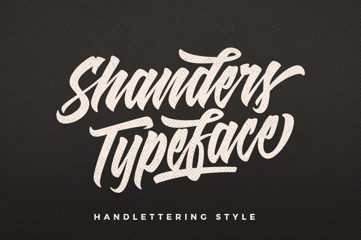 Shanders шрифт скачать бесплатно