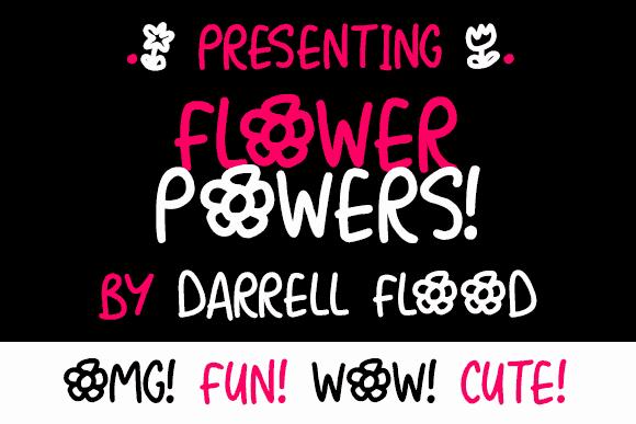 Flower Powers шрифт скачать бесплатно