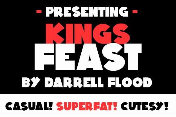 Kings Feast шрифт скачать бесплатно