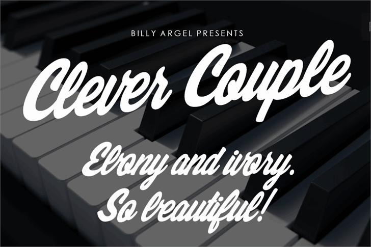 Clever Couple шрифт скачать бесплатно