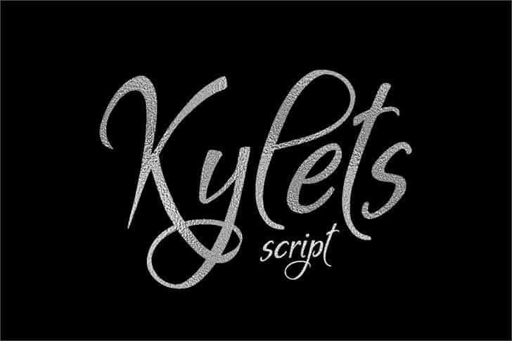 Kylets шрифт скачать бесплатно