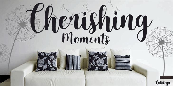 Cherishing Moments шрифт скачать бесплатно