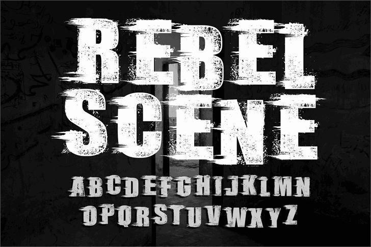Rebel Scene шрифт скачать бесплатно