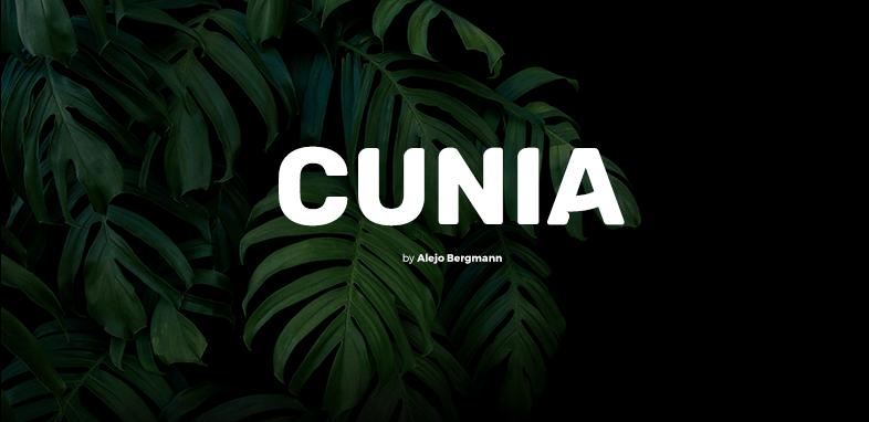 Cunia шрифт скачать бесплатно