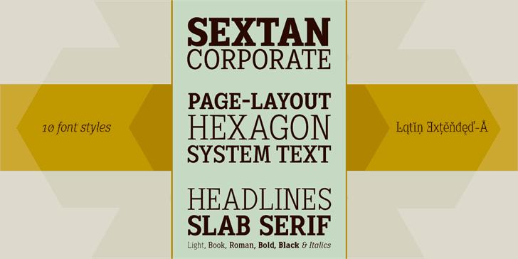 Sextan Roman шрифт скачать бесплатно