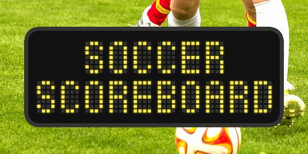Soccer Scoreboard шрифт скачать бесплатно