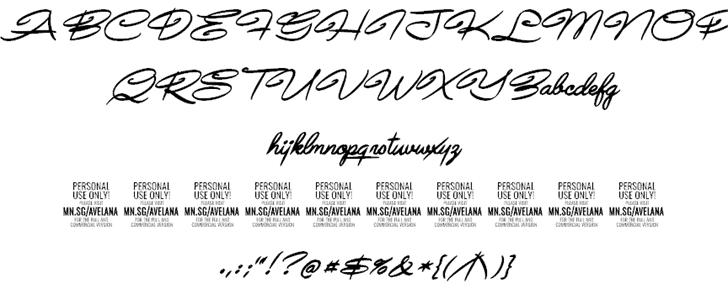 Avelana шрифт скачать бесплатно