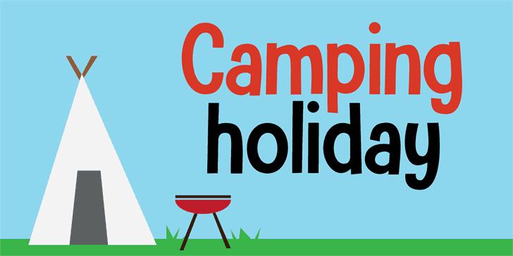 Camping Holiday шрифт скачать бесплатно