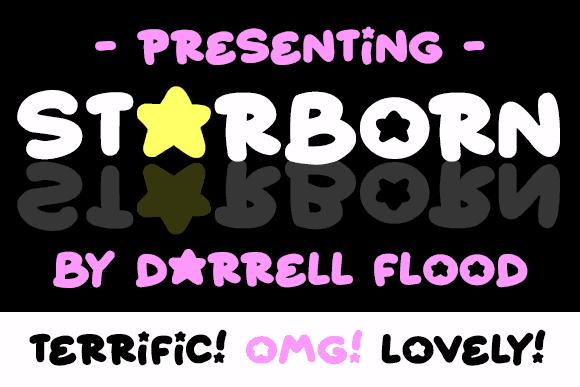 Starborn шрифт скачать бесплатно
