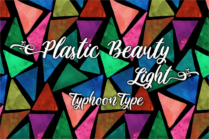 Plastic Beauty Light шрифт скачать бесплатно