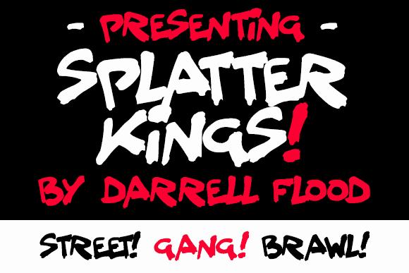 Splatter Kings шрифт скачать бесплатно