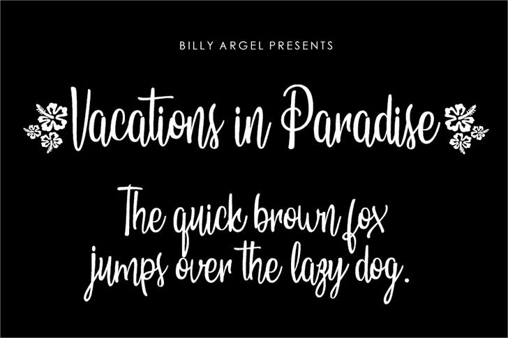 Vacations in Paradise шрифт скачать бесплатно