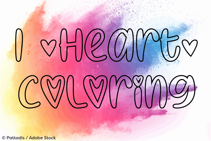 I Heart Coloring шрифт скачать бесплатно