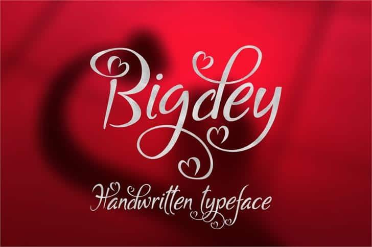 Bigdey шрифт скачать бесплатно