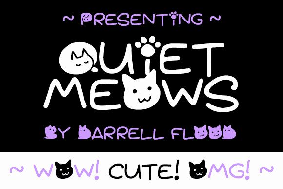 Quiet Meows шрифт скачать бесплатно